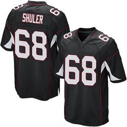 Adam Shuler Arizona Cardinals Men's Game Alternate Nike Jersey - Black