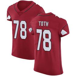 Brett Toth Arizona Cardinals Men's Elite Team Color Vapor Untouchable Nike Jersey - Red
