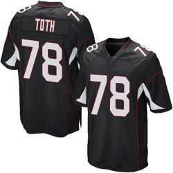 Brett Toth Arizona Cardinals Men's Game Alternate Nike Jersey - Black