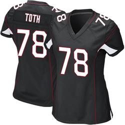 Brett Toth Arizona Cardinals Women's Game Alternate Nike Jersey - Black