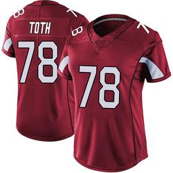 Brett Toth Arizona Cardinals Women's Limited Vapor Team Color Untouchable Nike Jersey - Red