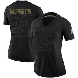 Charles Washington Arizona Cardinals Women's Limited 2020 Salute To Service Nike Jersey - Black