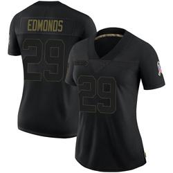 Chase Edmonds Arizona Cardinals Women's Limited 2020 Salute To Service Nike Jersey - Black