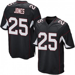 Chris Jones Arizona Cardinals Men's Game Alternate Nike Jersey - Black