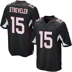Chris Streveler Arizona Cardinals Men's Game Alternate Nike Jersey - Black