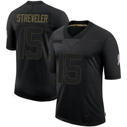 Chris Streveler Arizona Cardinals Men's Limited 2020 Salute To Service Jersey - Black