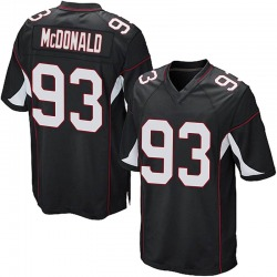 Clinton McDonald Arizona Cardinals Men's Game Alternate Nike Jersey - Black