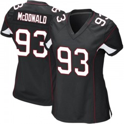 Clinton McDonald Arizona Cardinals Women's Game Alternate Nike Jersey - Black