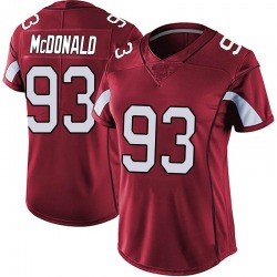 Clinton McDonald Arizona Cardinals Women's Limited Vapor Team Color Untouchable Nike Jersey - Red