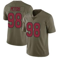 Corey Peters Arizona Cardinals Men's Limited Salute to Service Nike Jersey - Green