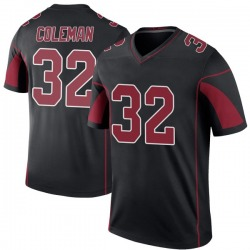 Derrick Coleman Arizona Cardinals Men's Color Rush Legend Jersey - Black