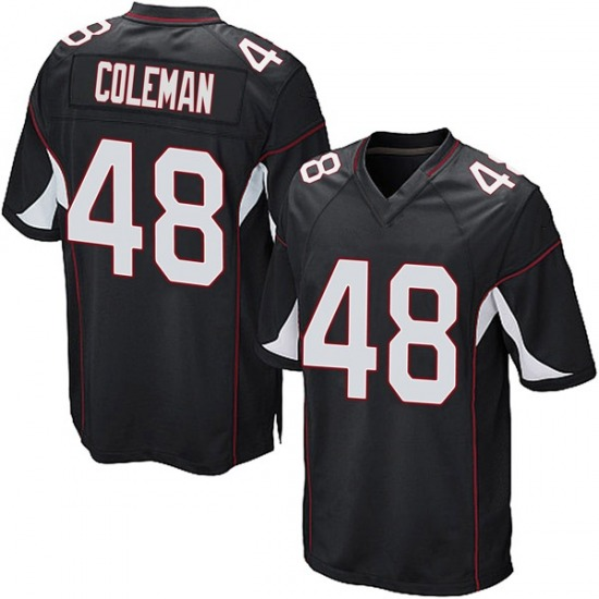 Derrick Coleman Arizona Cardinals Men's Game Alternate Nike Jersey - Black