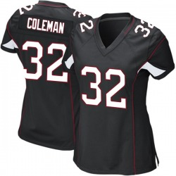 Derrick Coleman Arizona Cardinals Women's Game Alternate Nike Jersey - Black