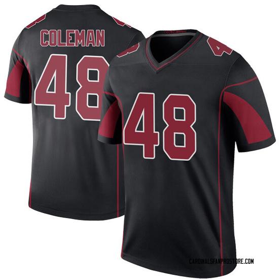 Derrick Coleman Arizona Cardinals Youth Color Rush Legend Nike Jersey - Black