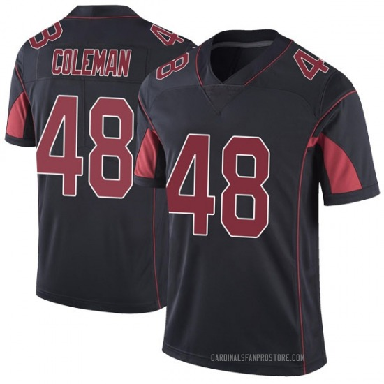 Derrick Coleman Arizona Cardinals Youth Limited Color Rush Vapor Untouchable Nike Jersey - Black