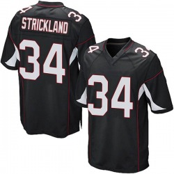 Dontae Strickland Arizona Cardinals Men's Game Alternate Nike Jersey - Black
