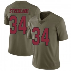 Dontae Strickland Arizona Cardinals Men's Limited Salute to Service Nike Jersey - Green