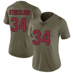 Dontae Strickland Arizona Cardinals Women's Limited Salute to Service Nike Jersey - Green