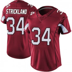 Dontae Strickland Arizona Cardinals Women's Limited Vapor Team Color Untouchable Nike Jersey - Red