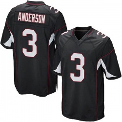 Drew Anderson Arizona Cardinals Men's Game Alternate Nike Jersey - Black