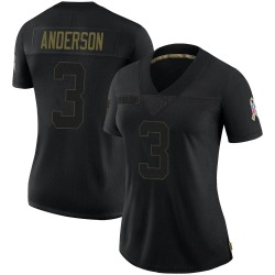 Drew Anderson Arizona Cardinals Women's Limited 2020 Salute To Service Nike Jersey - Black