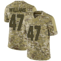 Drew Williams Arizona Cardinals Men's Limited 2018 Salute to Service Nike Jersey - Camo