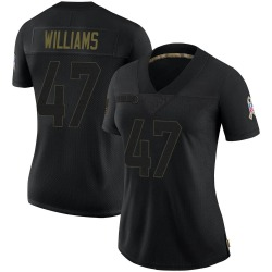 Drew Williams Arizona Cardinals Women's Limited 2020 Salute To Service Nike Jersey - Black