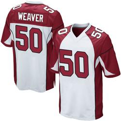 Evan Weaver Arizona Cardinals Men's Game Nike Jersey - White