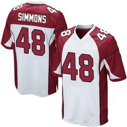 Isaiah Simmons Arizona Cardinals Men's Game Nike Jersey - White