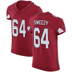 J.R. Sweezy Arizona Cardinals Men's Elite Team Color Vapor Untouchable Nike Jersey - Red