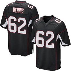 Jackson Dennis Arizona Cardinals Men's Game Alternate Nike Jersey - Black