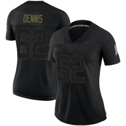 Jackson Dennis Arizona Cardinals Women's Limited 2020 Salute To Service Nike Jersey - Black