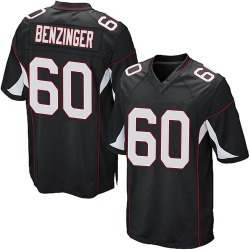 Jake Benzinger Arizona Cardinals Men's Game Alternate Nike Jersey - Black