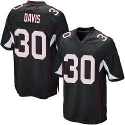 Jalen Davis Arizona Cardinals Men's Game Alternate Nike Jersey - Black