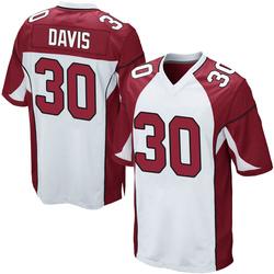 Jalen Davis Arizona Cardinals Men's Game Nike Jersey - White