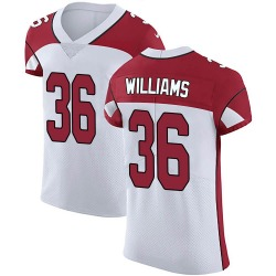 Jarren Williams Arizona Cardinals Men's Elite Vapor Untouchable Nike Jersey - White