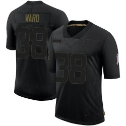 Jonathan Ward Arizona Cardinals Men's Limited 2020 Salute To Service Nike Jersey - Black