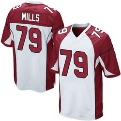 Jordan Mills Arizona Cardinals Men's Game Nike Jersey - White