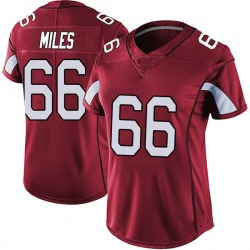 Joshua Miles Arizona Cardinals Women's Limited Vapor Team Color Untouchable Nike Jersey - Red
