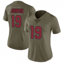 KeeSean Johnson Arizona Cardinals Women's Limited Salute to Service Nike Jersey - Green