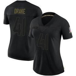 Kenyan Drake Arizona Cardinals Women's Limited 2020 Salute To Service Nike Jersey - Black