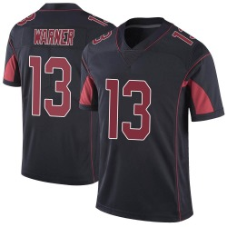 Kurt Warner Arizona Cardinals Men's Limited Color Rush Vapor Untouchable Nike Jersey - Black