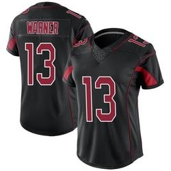 Kurt Warner Arizona Cardinals Women's Limited Color Rush Nike Jersey - Black