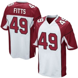 Kylie Fitts Arizona Cardinals Men's Game Nike Jersey - White