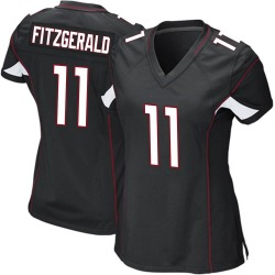 Larry Fitzgerald Arizona Cardinals Women's Game Alternate Nike Jersey - Black