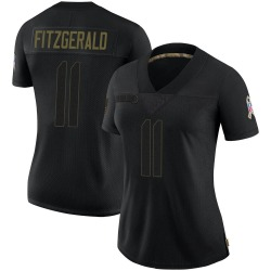 Larry Fitzgerald Arizona Cardinals Women's Limited 2020 Salute To Service Nike Jersey - Black