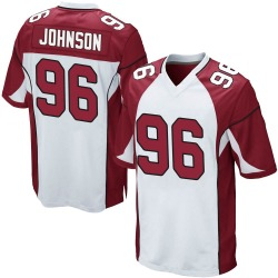 Lyndon Johnson Arizona Cardinals Men's Game Nike Jersey - White
