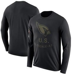 Men's Arizona Cardinals Black 2018 Salute to Service Sideline Legend Performance Long Sleeve T-Shirt