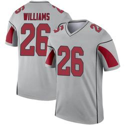 Men's Brandon Williams Arizona Cardinals Men's Legend Inverted Silver Jersey