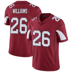 Men's Brandon Williams Arizona Cardinals Men's Limited Cardinal Team Color Vapor Untouchable Nike Jersey